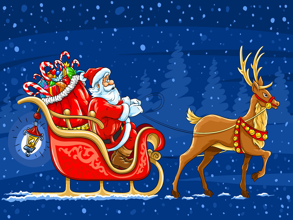 Free Merry Christmas Santa Claus HD Wallpapers for iPad   Tips and News about Mobile Devices!