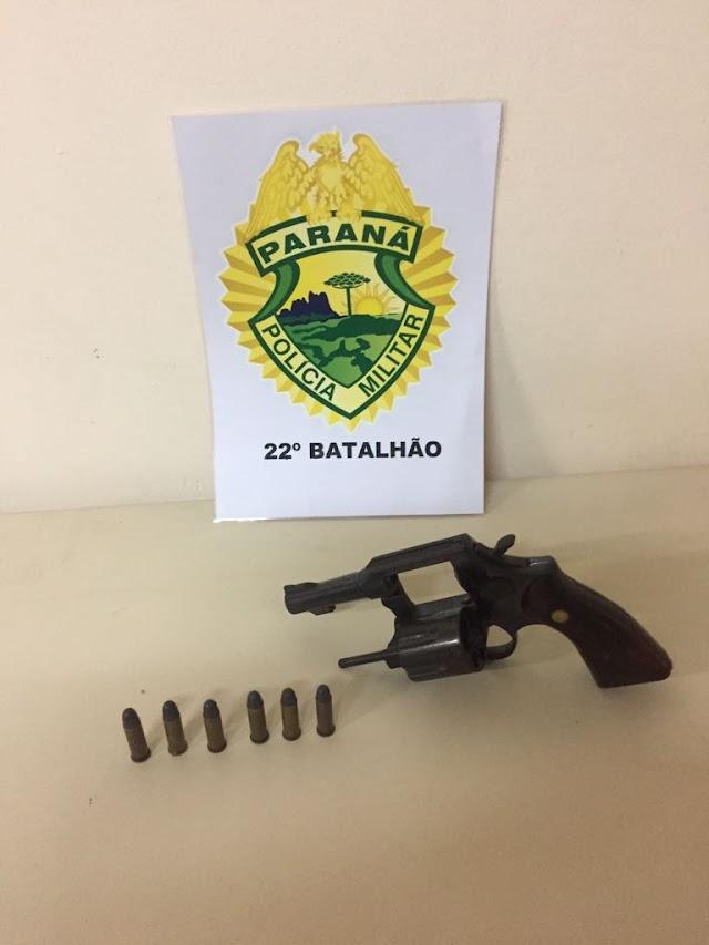 Homem é preso bêbado e armado em Colombo