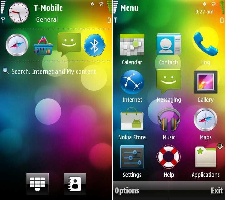Download Cool Theme Sense Style by Pizero for Nokia 5800