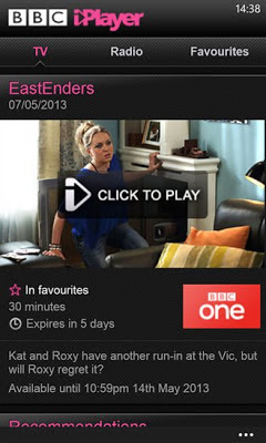 BBC iPlayer for Windows Phone
