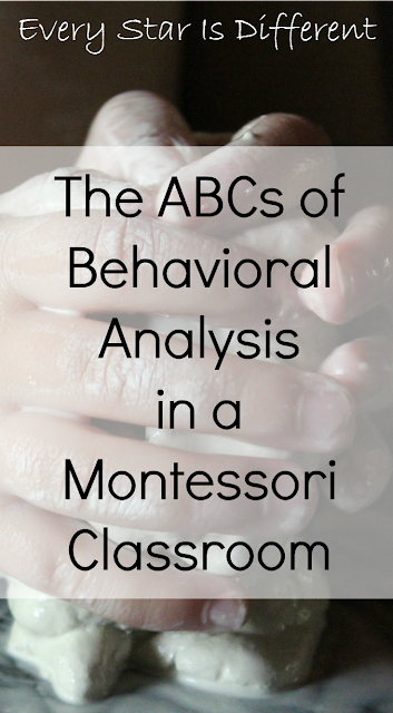 The ABCs of Behavioral Analysis in the Montessori Classroom with free printable.