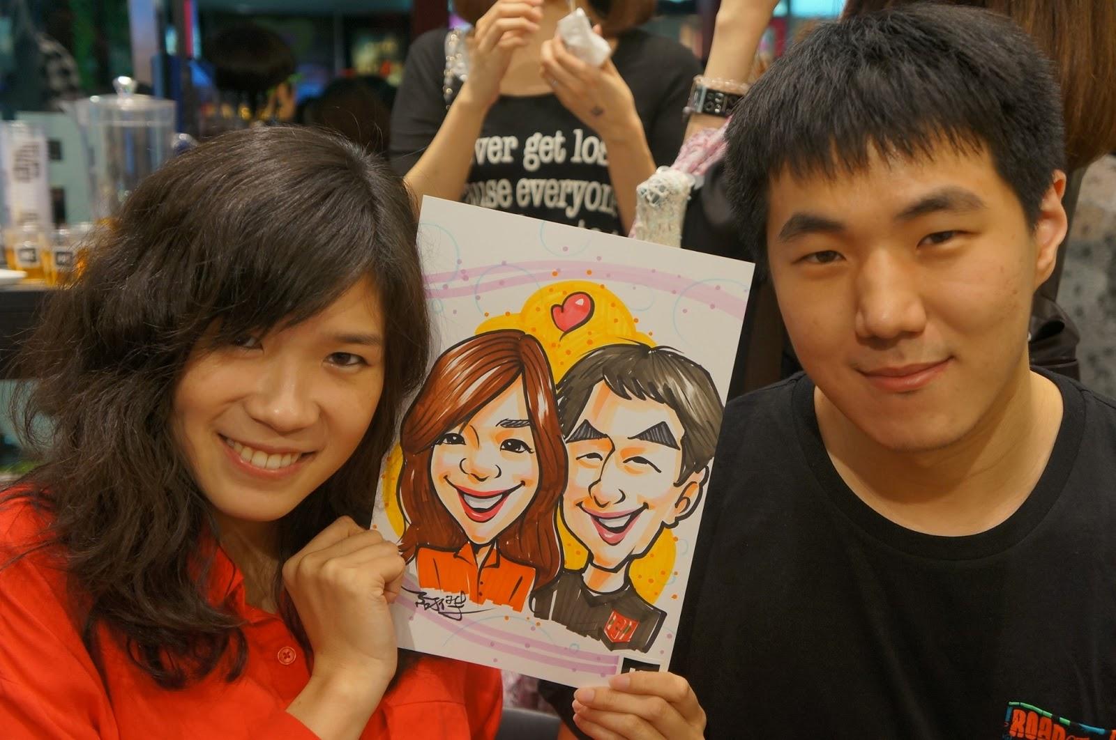 阿傑老師專業人像漫畫服務: 20130607 華那威秀韓國服飾品牌H人像漫畫活動