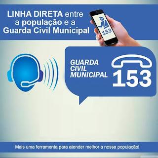 Número para ligação de emergência da GCM de Sorocaba agora é 153