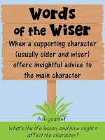 Words of the Wiser- This blog post includes 6 free signpost posters and 12 passages!