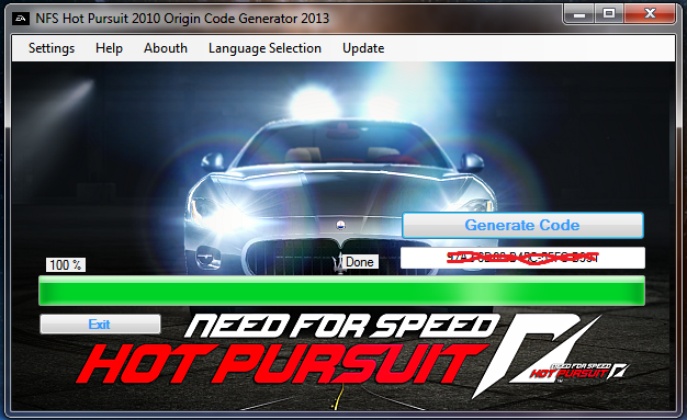 Planethex — Free codes for nfs hot pursuit 2010