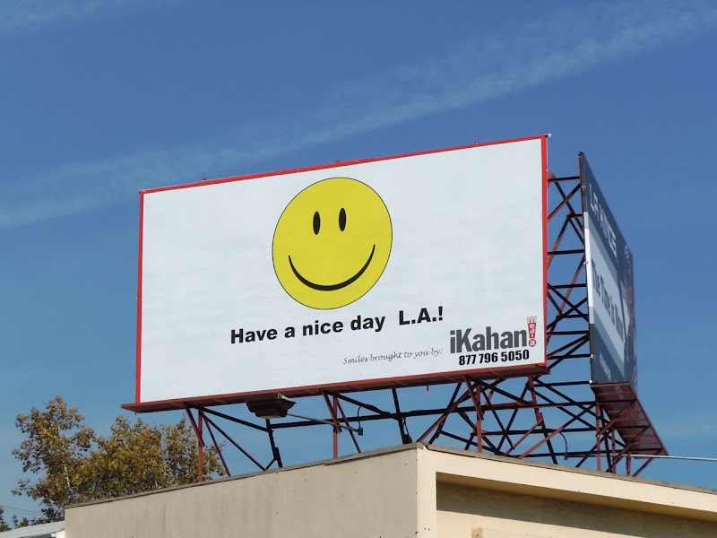 Nice Day LA smiley bilboard