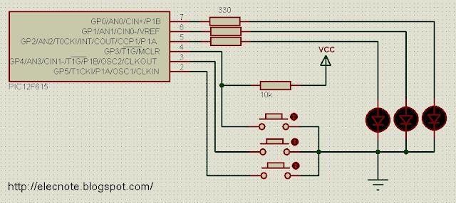 pic12f615 input read button mikroc
