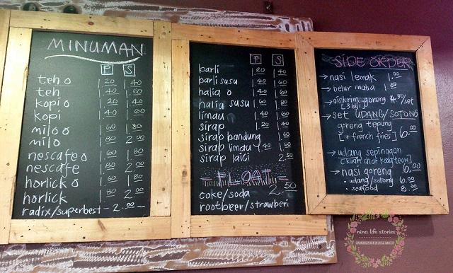 menu tok hery char koay teow kulim