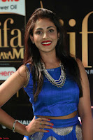 Madhu Shalini Looks Super Cute Slim trim Blue Choli Ghagra IIFA Utsavam Awards 29.JPG