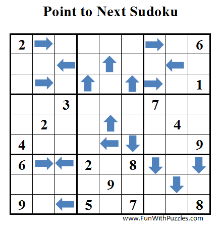 Point to Next Sudoku (Daily Sudoku League #36)