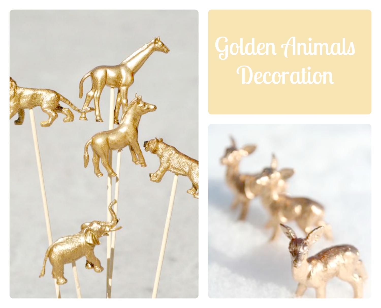 golden dieren decoratie