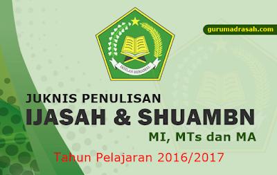 juknis penulisan ijasah dan shuambn 206-2017