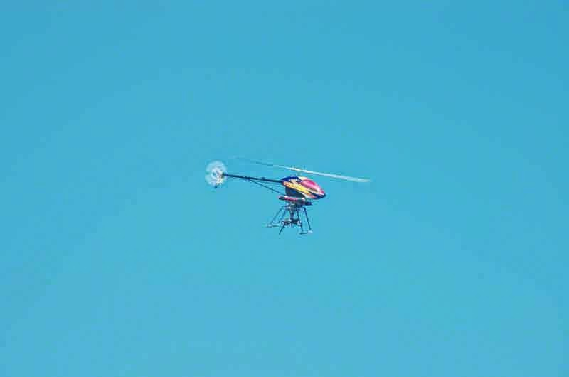 camera on remote helicopter