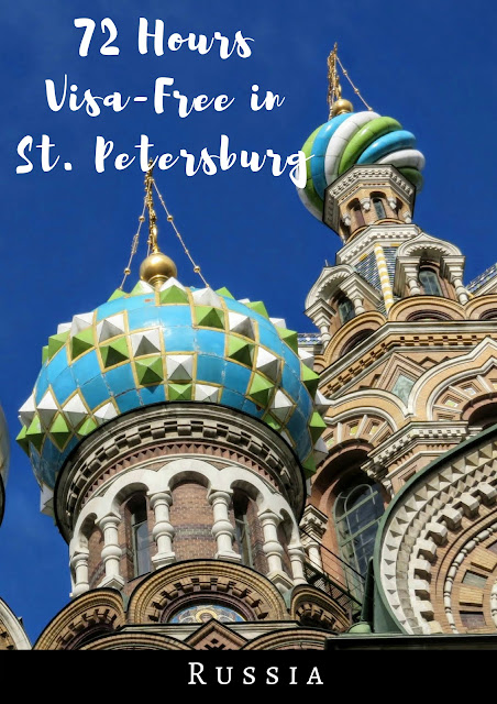 Pinterest Pin: 72 Hours Visa-Free in St. Petersburg Russia