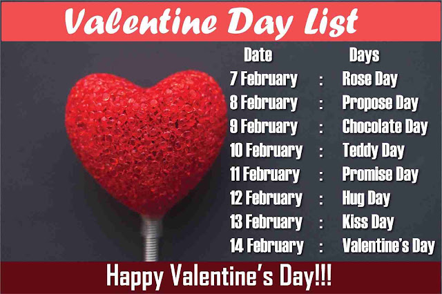 valentine day list