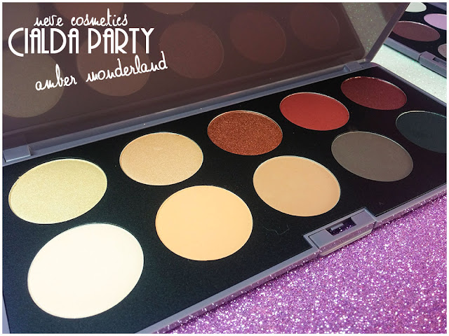 amber wonderland  neve cosmetics cialda party review recensione makeup ombretti