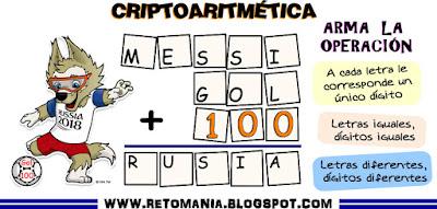 Alfamética, criptoaritmética, criptosuma, criptogramas