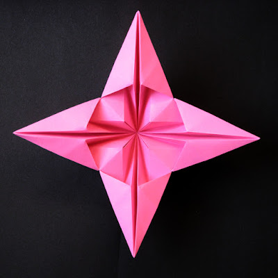 Origami 3D Star, back