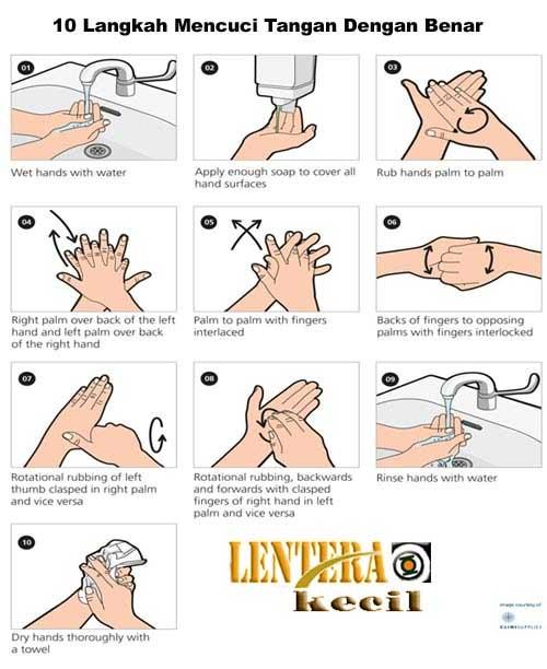 10 Langkah Cara Mencuci Tangan dengan benar