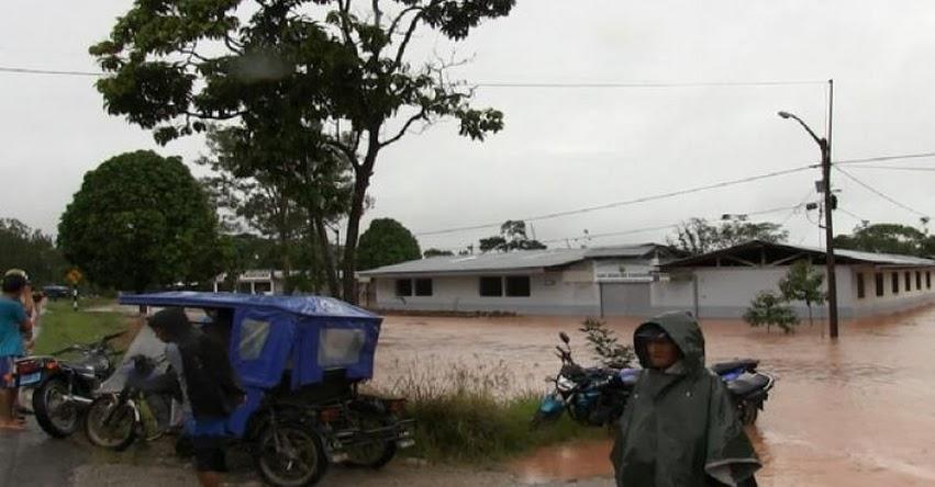 UGEL Moyobamba suspendió clases en 3 colegios por inundaciones
