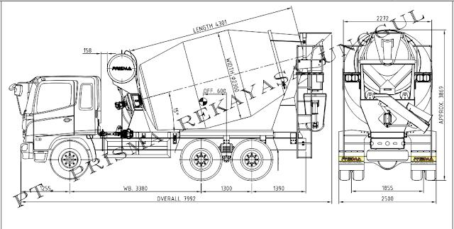 jual truk mixer baru
