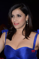 Mannara Chopra in Deep Neck Blue Gown at Zee Telugu Apsara Awards ~  Exclusive 003.jpg