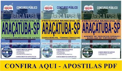 Apostila PDF Prefeitura de Araçatuba 2018 - Todos os cargos