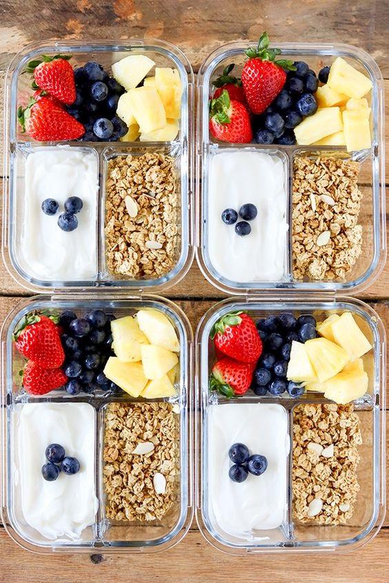 Breakfast Meal Prep Fruit And Yogurt Bistro Box