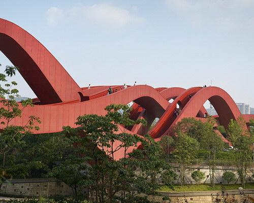 www.Tinuku.com NEXT Architects translates Möbius strip for Lucky Knot bridge in Changsha Meixi Lake District