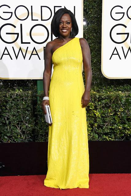 Viola Shines at golden globes 2017