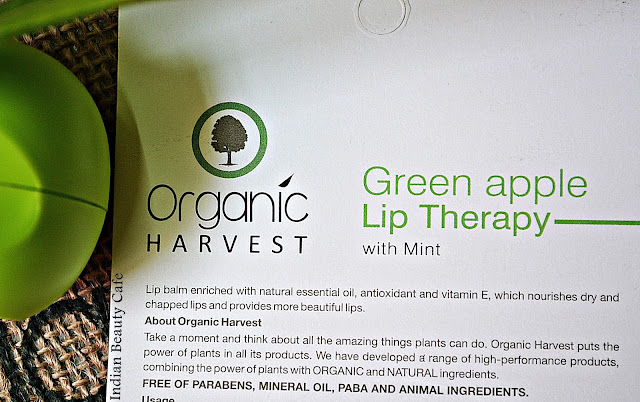 Organic Harvest Lip Therapy Product Claims