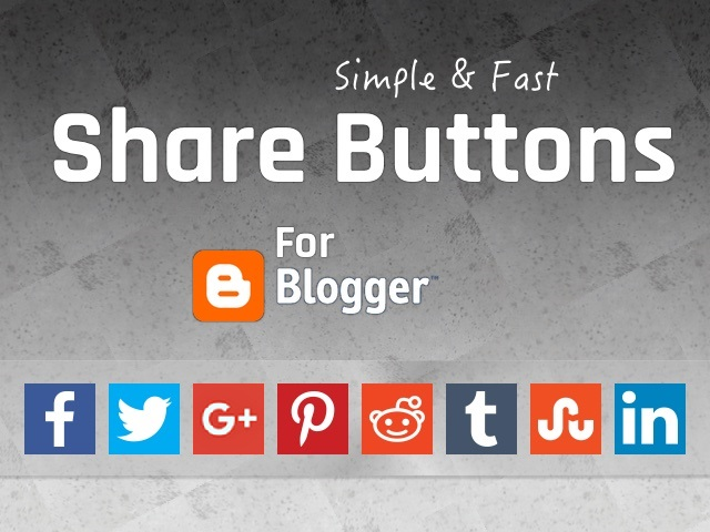 Simple Share Buttons For Blogger
