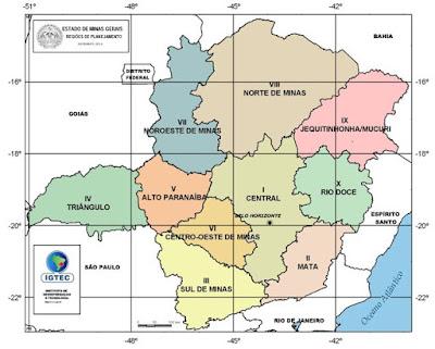 Divisão territorial do Estado de Minas Gerais