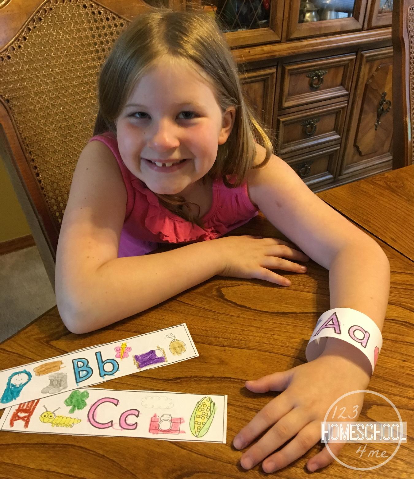 Free Alphabet Bracelets