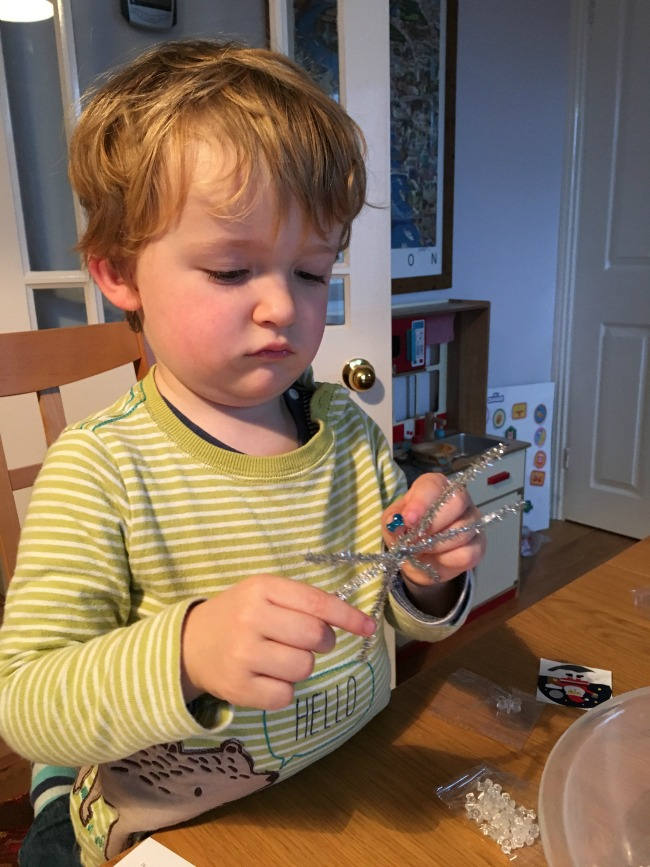 toddler-making-christmas-decoration-from-toucanBox-Subscription-Box