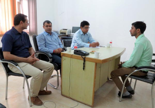 LCET Student taking part in placement drive