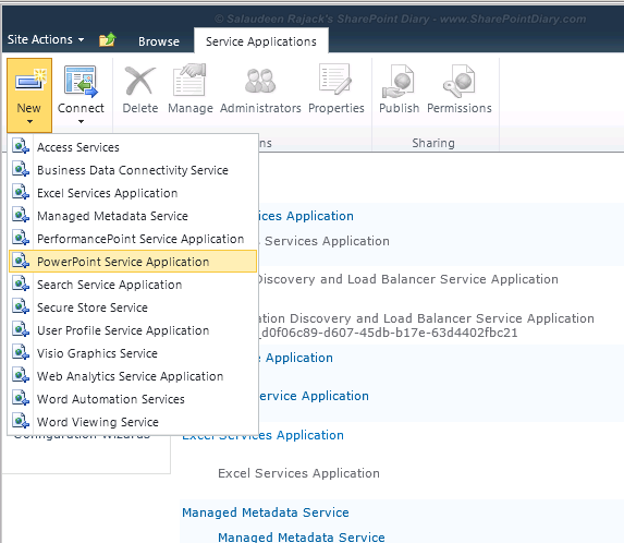 sharepoint 2010 office web apps create service application