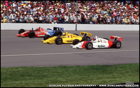 1990 Indianapolis 500 Front Row, Fittipaldi, Mears and Luyendyk