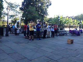 New Orleans French Quarter Jackson Square band