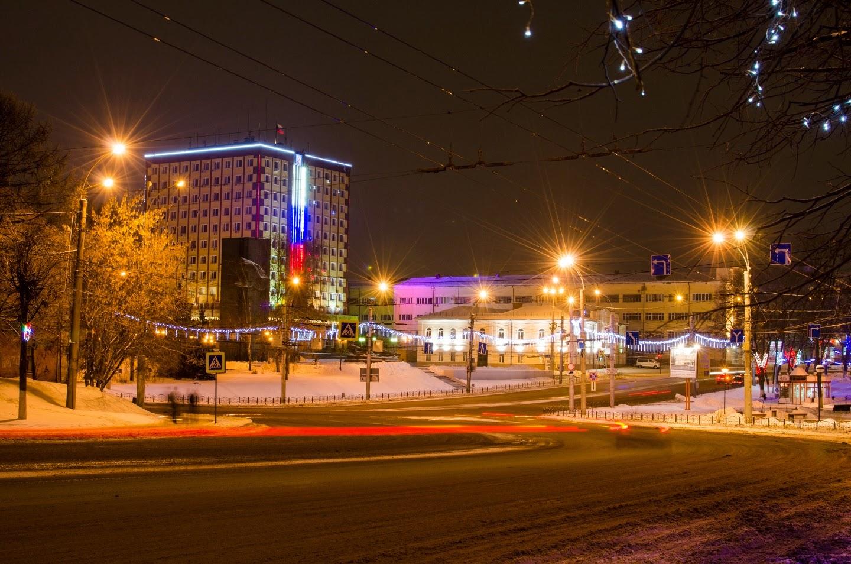 Вечернее Иваново. Январь