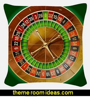 Roulette Table Woven Throw Pillow