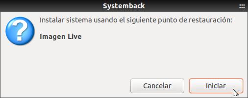 Systemback Instalar LIve