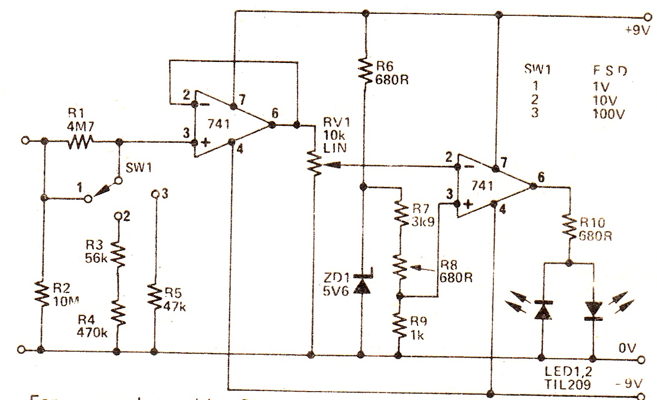 Motorcycle Voltmeter Wiring Diagram Diagrams Gauge High Impedance Circuit Volt