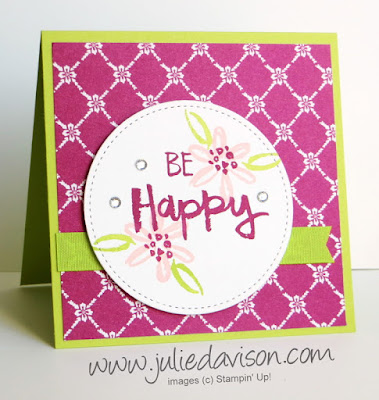 Stampin' Up! Paint Play : Be Happy Card ~ www.juliedavison.com