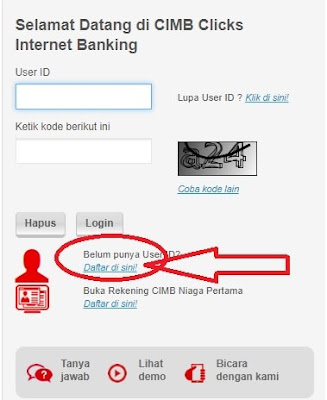 Cara Daftar Internet Banking CIMB Clicks di Website