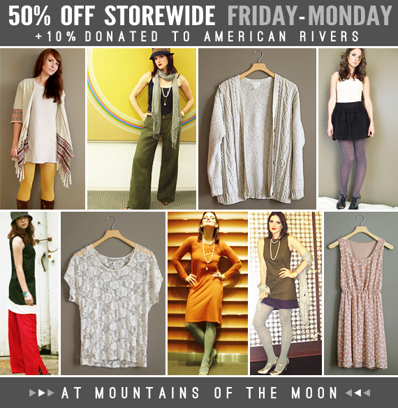 50% Off Storewide at Mountains of the Moon!