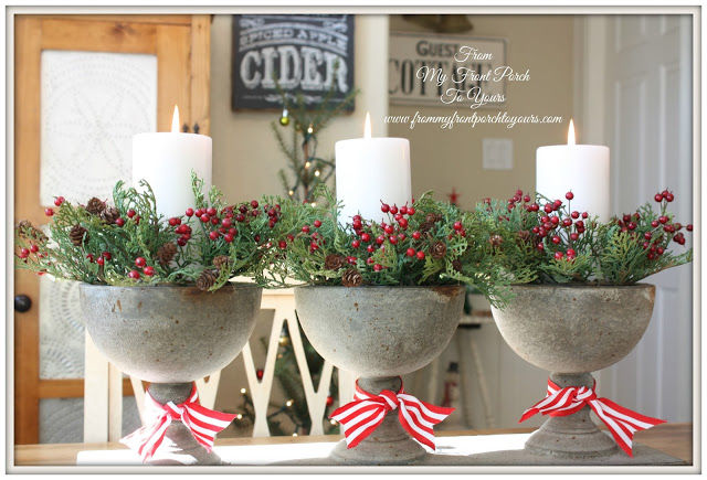 Christmas Vignette-Farmhouse Christmas Kitchen-Christmas Decorations-From My Front Porch To Yours