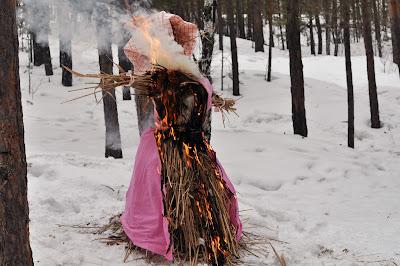 сожжение масленичной куклы