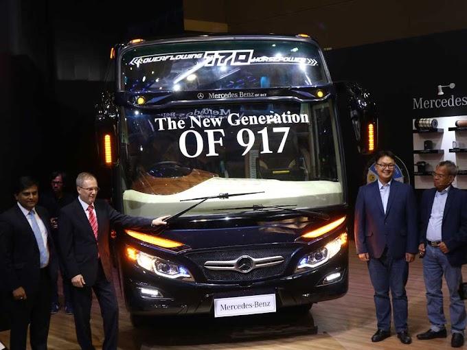 Mercedes Benz presentó en Busworld Jakarta 2019 el chasis OF 917 para minibuses