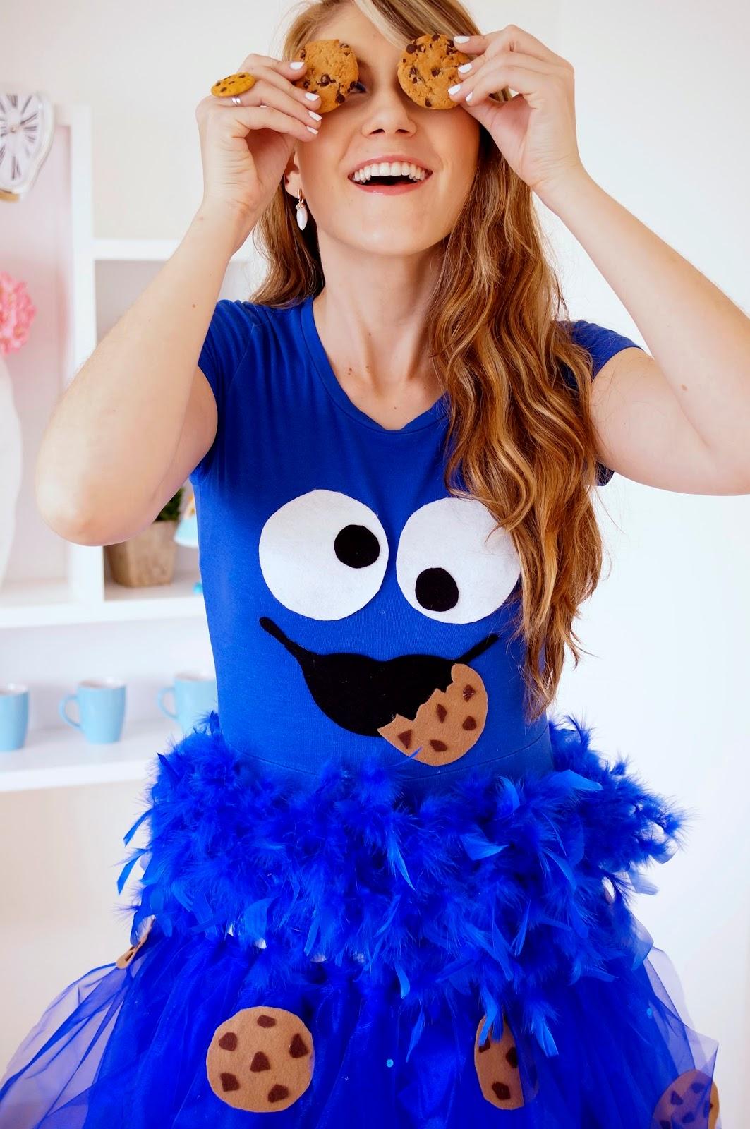 Easy Homemade Cookie Monster Costume for Halloween